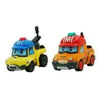 2Pcs Robocar Poli Robot Toy Korea Poli Robocar Bucky Mark Transformation Toys Anime Action Figures Poli