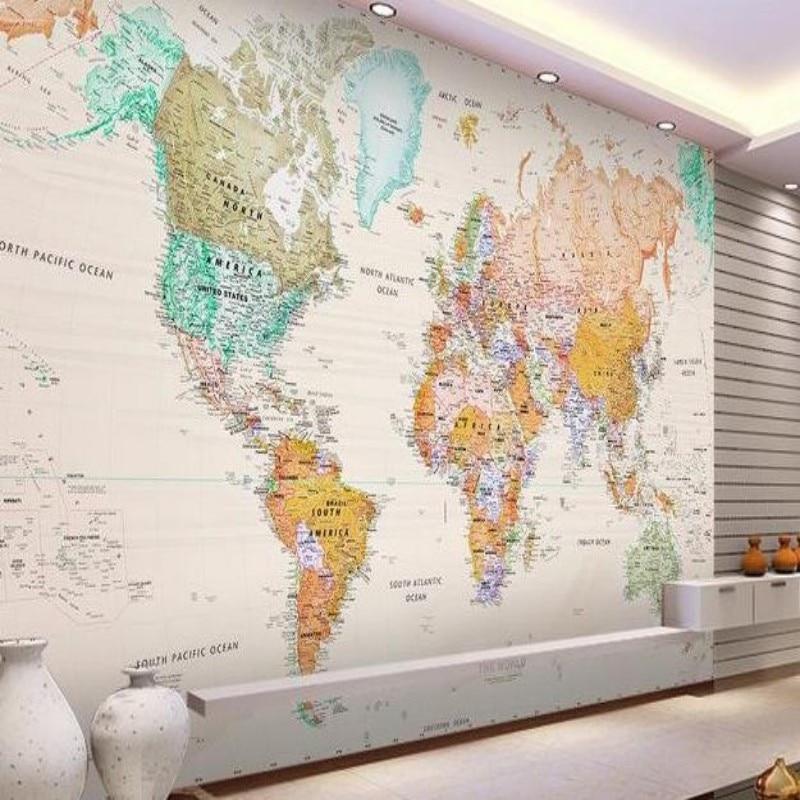 beibehang d fondos de pantalla mural d wallpaper habitacin elegante mapa mundo foto wallpaper murales de pared