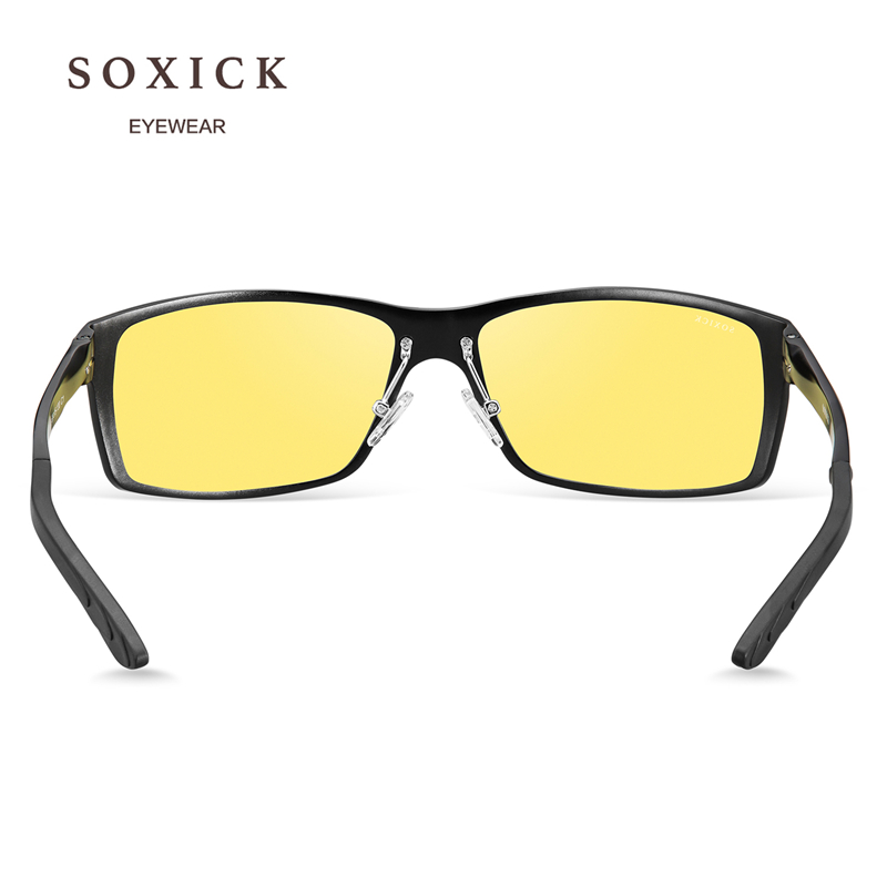 c4d7f33336 SOXICK Brand Night Version Polarized Sunglasses Yellow Lens Anti Glare  Safety Men Women Driving Glasses Handmade Sport Eyewear-in Sunglasses from  Apparel ...