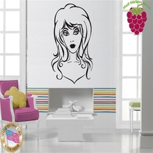 Wall Stickers Vinyl Decal Beautiful Sexy Girl Hairstyle Hair Barber
