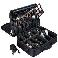 Professional Makeup Cosmetic Bag Waterproof Women Fashion Makeup Box Make Up Organizer Large Storage Luggage Travel