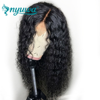 NYUWA 13x6 Lace Front Human Hair Wigs Pre Plucked With Baby Hair 150% Density Brazilian Remy Hair Water Wave Lace Front Wigs