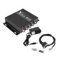 XVGA Box RGB RGBS RGBHV MDA CGA EGA to VGA Industrial Monitor Video Converter with US Plug Power Adapter Black NEW