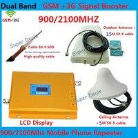 Междугородние сотовый телефон сигнал повторителя 3g gsm репитер UMTS HSPA LTE 3g усилители повторитель + ПДСХР антенны + коаксиальный кабель