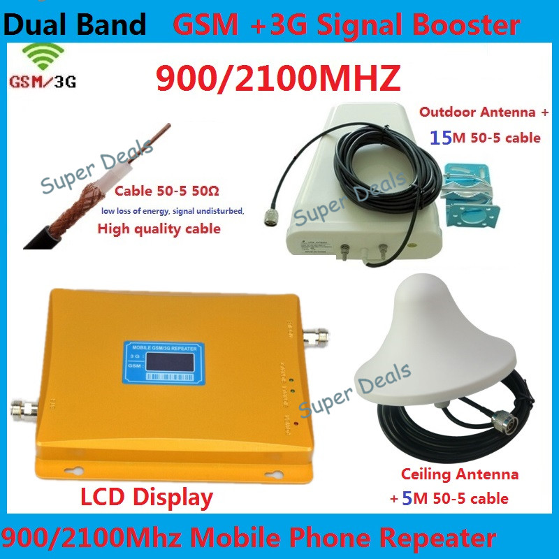 Long distance Cell Phone Signal Repeater 3g gsm repeater UMTS HSPA LTE 3G Repeater amplifiers + LPDA antennas + coaxial cableLong distance Cell Phone Signal Repeater 3g gsm repeater UMTS HSPA LTE 3G Repeater amplifiers + LPDA antennas + coaxial cable