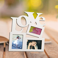 Lovely Home Decor Art DIY Gift New Sweet Wooden Hollow Love Picture Frame Photo Fashion Family