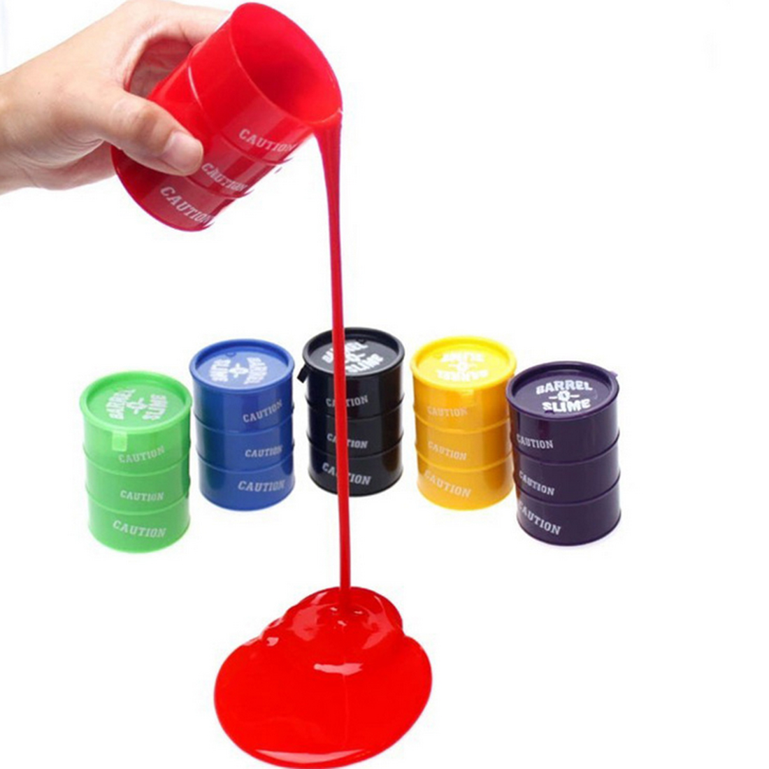 Surwish 5Pcs Set Funny Toy Crazy Trick Party Supply Prank Trick Toy Silicone Paint Bucket 7.6*5.5cm - Color Random
