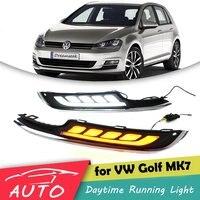 LED DRL For VW Golf MK7 2013+ Daytime Running Light Fog Lamp With Turn Signal
