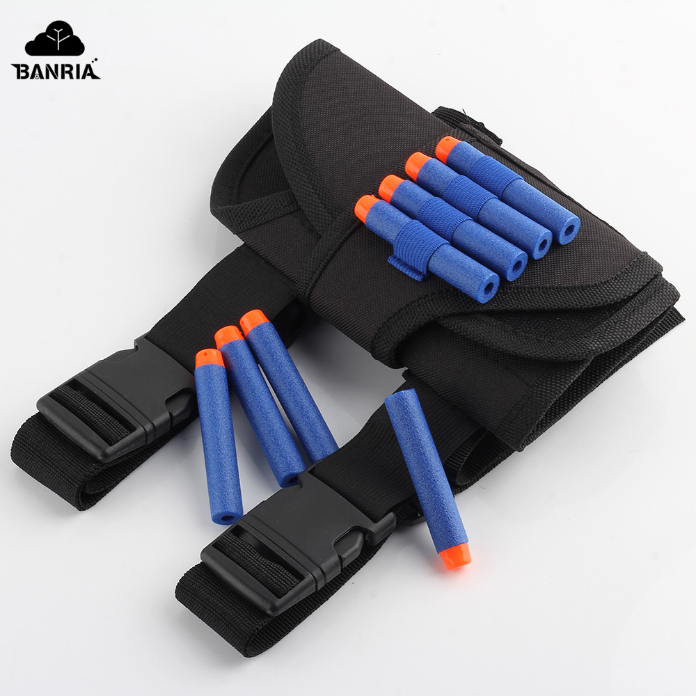 Toys Gun Bullets Soft Darts Tactical Target Pocket Legs Bag for Nerf N-Strike Elite Ammo ...