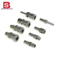 8pcs 3 8 Pneumatic Air Compressor Hose Quick Coupler Plug Socket Connector Set