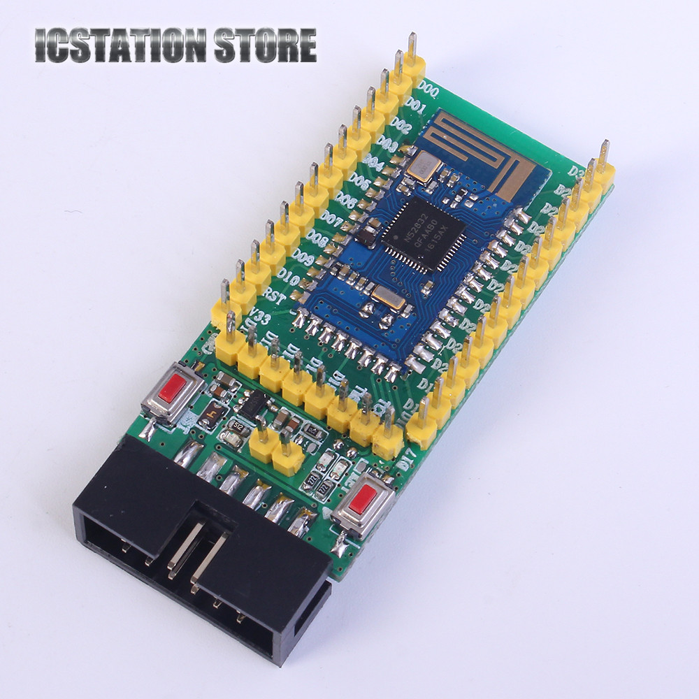 NRF52832 Mini Development Board Gold Core board Wireless Bluetooth Transceiver Module nrf52832 core module qfaa nrf52832 bluetooth ble development board