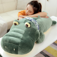 new giant crocodile plush pillow toy big stuffed ainmals alligator dolls for children friend gift decoration 43inch 110cm