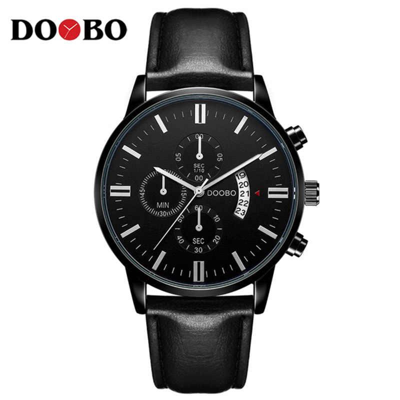Новый роскошный бренд DOOBO мужские военные спортивные часы мужские кварцевые часы мужские повседневные кожаные Наручные часы Relogio Masculino
