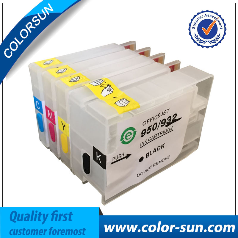 for hp932 933 new Refillable Ink cartridge for hp933 932 for HP Officejet 7510 7512 A3 printer with permanent chip free shipping for hp 932 933 refillable ink cartridge with ink with permanent chips for hp officejet 6600 6700 ink jet printer