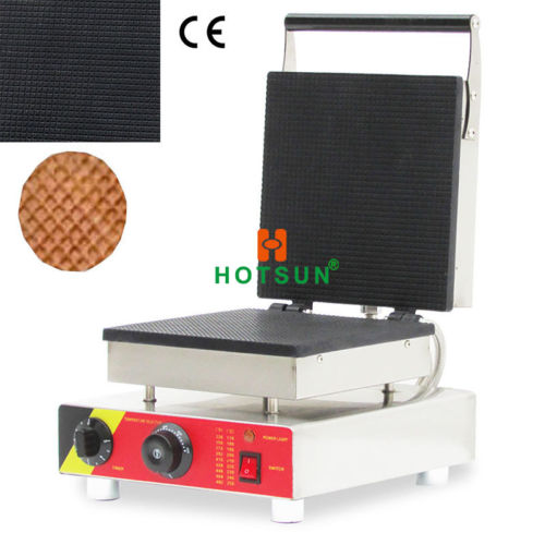 Commercial Nonstick Electric Square Ice Cream Corn Waffle Maker Iron Machine square pan rolled fried ice cream making machine snack machinery