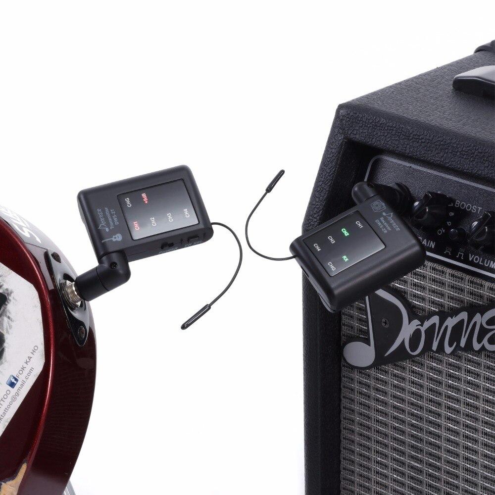 Donner système de guitare sans fil Audio numérique guitare électrique transmetteur de basse et récepteur batterie Rechargeable lituim DWS-2 - 5