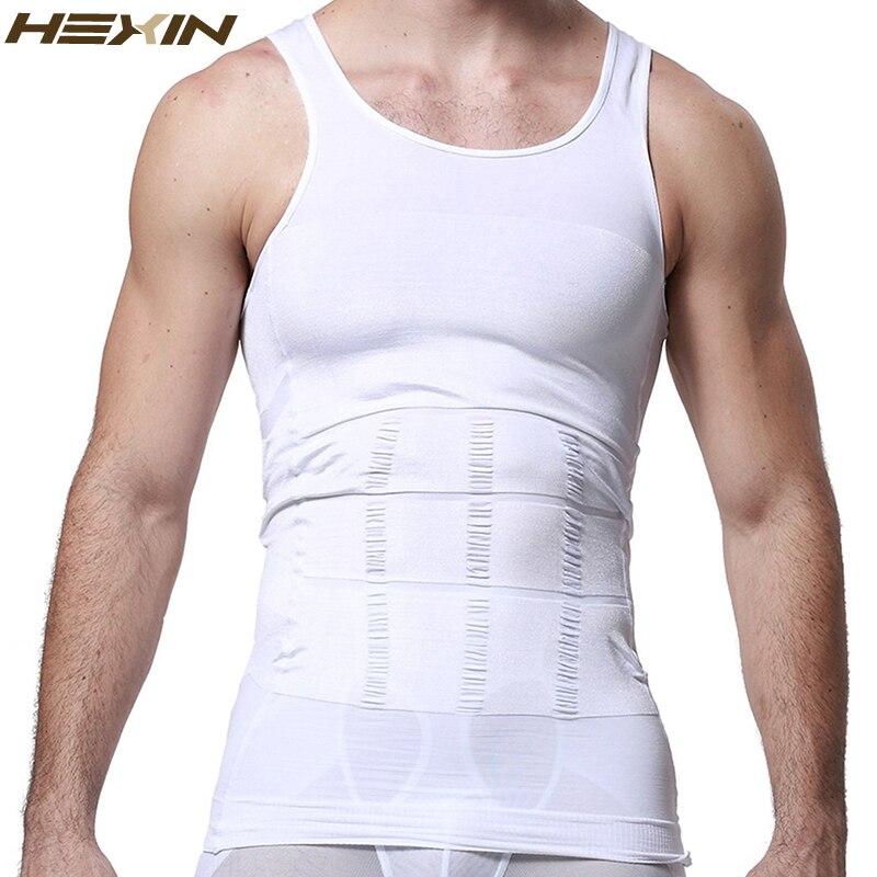 48e1d1629a7860 HEXIN Men s Slimming Body Shapewear Corset Vest Shirt Compression ...