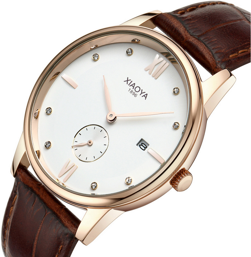 Luxury Brand Ultra thin Date Genuine Leather Men Quartz Watch Rose Gold Casual Sports Watches Men Wrist Watch Relogio Masculino top brand luxury men watches men s quartz hour date clock male genuine leather strap casual sports wrist watch gold montre homme