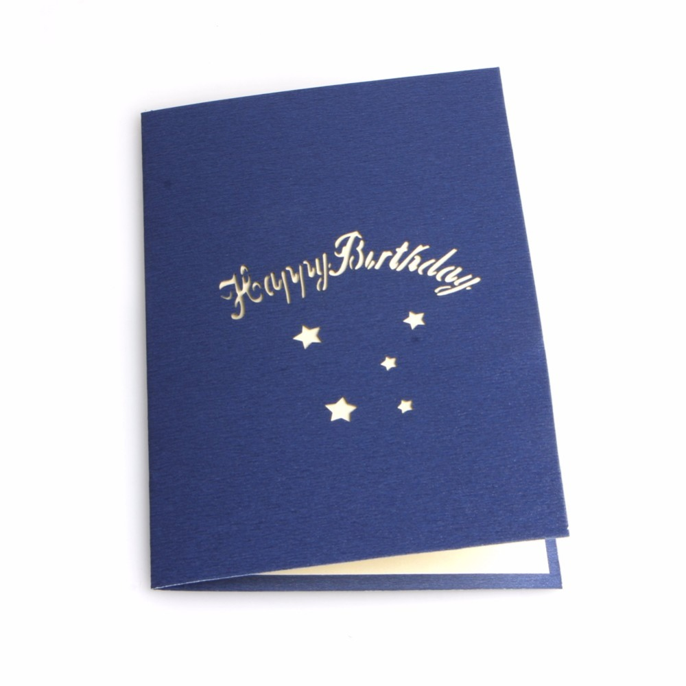 Free Delivery 3D Pop Up Greeting Cards Handmade Happy Birthday Gift Best Wish Christmas Postcard New In Invitations From Home Garden On