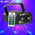 ALIEN Remote Mini красный зеленый 48 узоров сценический лазерный проектор с эффектом освещения для вечеринки Рождества праздника диско DJ с синим св...