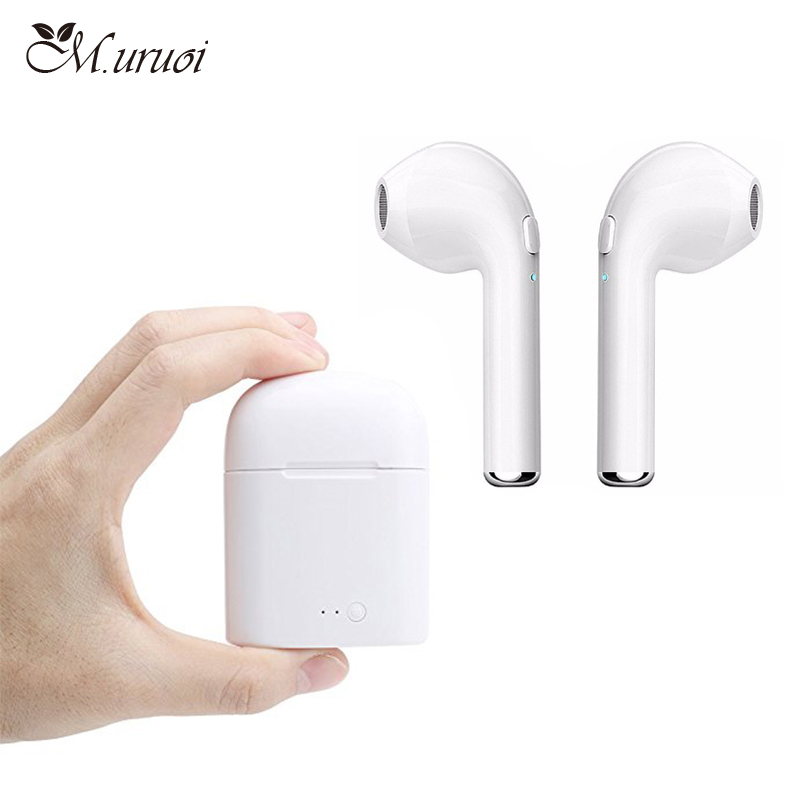 M.uruoi Mini Wireless Earbuds TWS Bluetooth Headsets With Mic Inear Earphones Handsfree Kulakl k For iPhone Samsung Phone Earbud