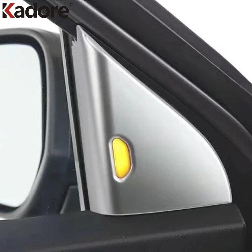 La instalaci n exterior ventana de ajuste - Para Nissan Patadas 2017 2018 Abs Mate Puerta Interior Tri Ngulo Ajuste De La Cubierta Ventana Pilar Decal Stickers 2 Unids Coche Accesorios En Molduras