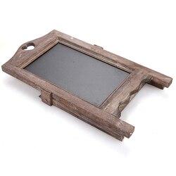 Tablica z drewna rusztowania tablica ogłoszeń drewniane mała tablica restauracja Cafe pulpit kreatywny wielofunkcyjny Retro Nosta w Ozdobne tablice od Dom i ogród na