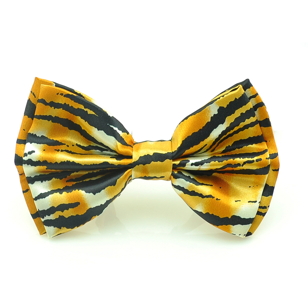 new design yellow black zebra bow tie men women unisex