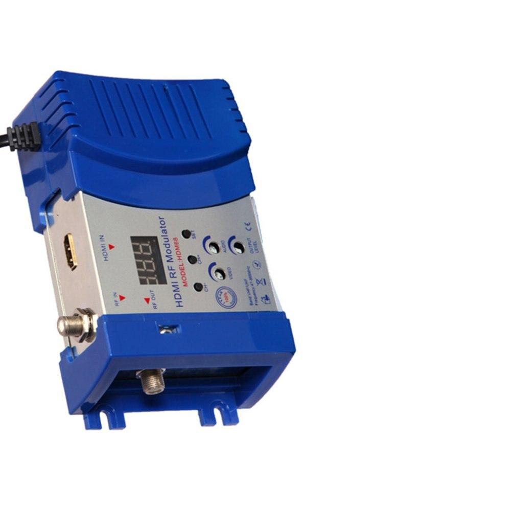 Monland Nuevo Modulador HDM68 RF Digital Modulador HDMI Convertidor AV una RF VHF UHF PAL//NTSC Modulador Port/áTil Est/áNdar Enchufe de la UE