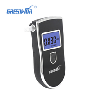 10pcs LotPatent Prefessional Police Digital Breath Alcohol Tester Breathalyzer 10 Mouthpieces With Russian User Manual