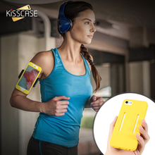 KISSCASE Sports Arm Band Phone Case For iPhone 7 7 Plus Running Bag Combo 2 in 1 Gym Sports Arm band For iPhone 7 7 Plus Case