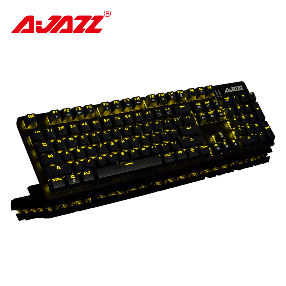 Ajazz ROBOCOP gaming keyboard mechanical backlit keyboard ergonomic anti ghosting N key rollover Brown Black Red