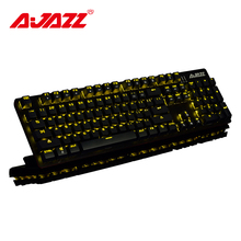 Игровая клавиатура Ajazz ROBOCOP, механическая клавиатура с подсветкой, эргономичная, с защитой от ореолов, n-клавиша, переключение коричневого/черного/Красного/синего цвета, переключатели