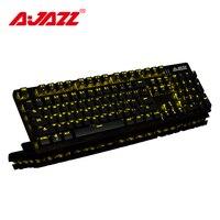 Игровая клавиатура Ajazz ROBOCOP, механическая клавиатура с подсветкой, эргономичная, защита от привидения, переключатель N-key, коричневый/черный/...