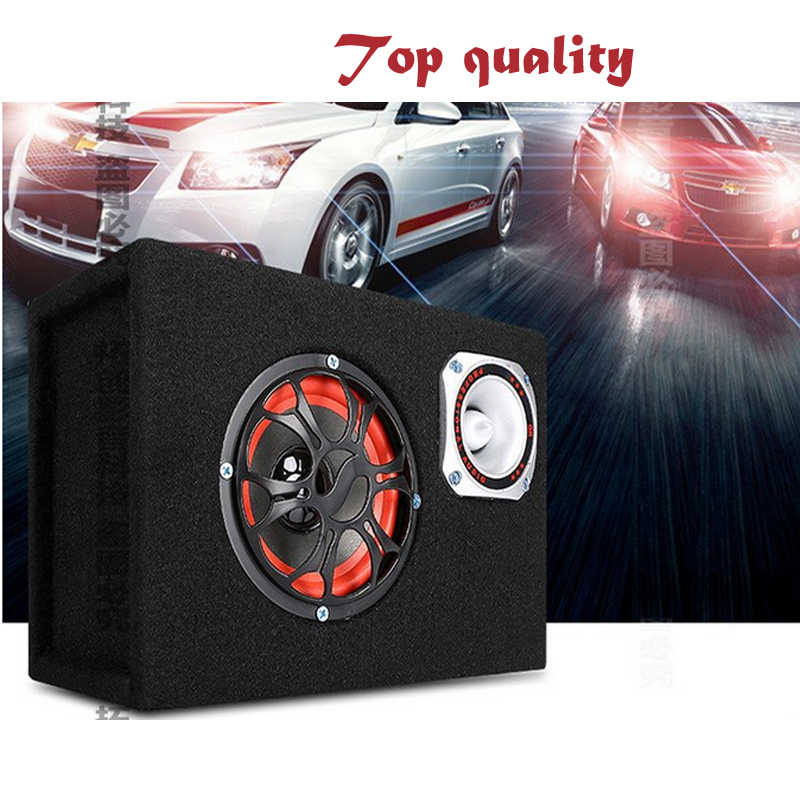 High Quality 5 inch 300watts 12v 220v Car Audio 2 IN 1 hifi Portable Active Speakers Built-in Remote Speaker Box Subwoofer