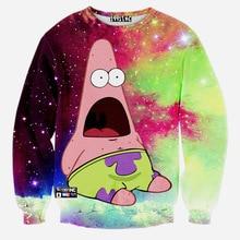 Mode Patrick Sterne 3D Print Pullover Sweatshirt Joker Lustige Lose Oberbekleidung Kitty Jumper Sweatshirts Frauen Männer Trainingsanzug