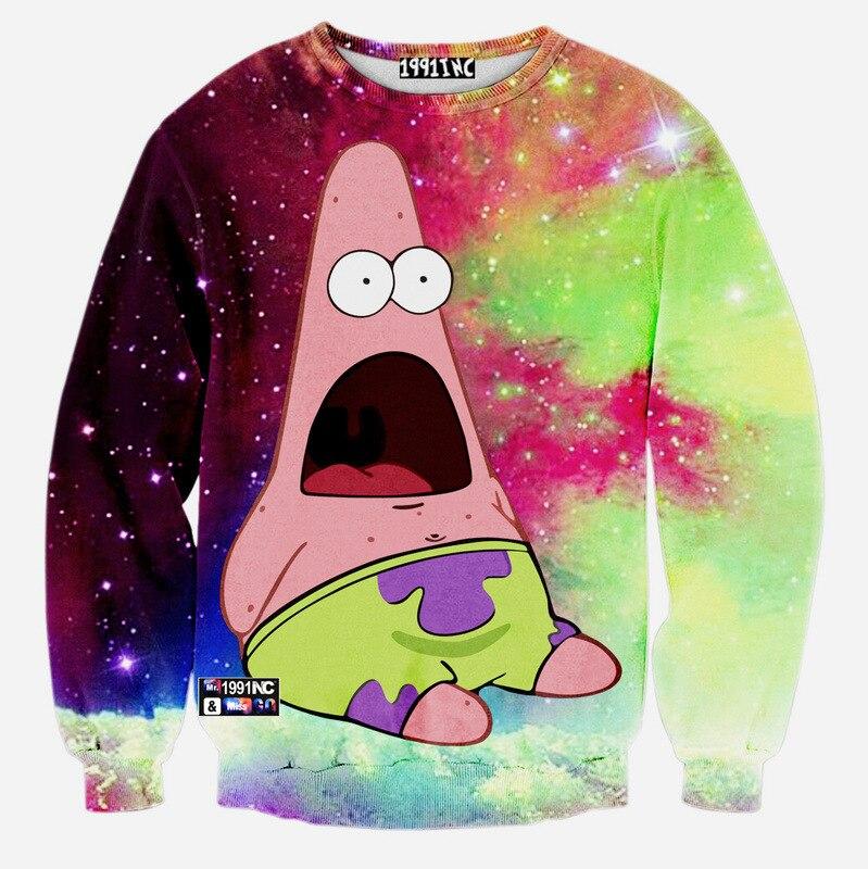 Fashion Patrick Star 3D Print Pullover Sweatshirt Joker Funny Loose Outerwear Kitty Jumper Sweatshirts Women Men Tracksuit