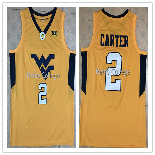 0f2d34b241c #2 Jevon Carter West Virginia Mountaineers College Mens Basketball Jersey  Embroidery Stitched Customize any name and number