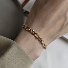 Silvology Bracelets en argent Sterling 925, chaîne brute, Texture, tempérament élégant, bijoux damitié coréens Bracelets pour femme