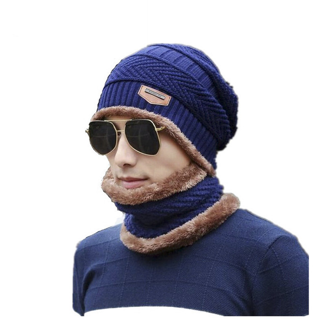 Cora Wang Balaclava Knitted hat scarf caps neck warmer Winter Hats For Men  women skullies beanies warm Fleece cap b5b471247ab7