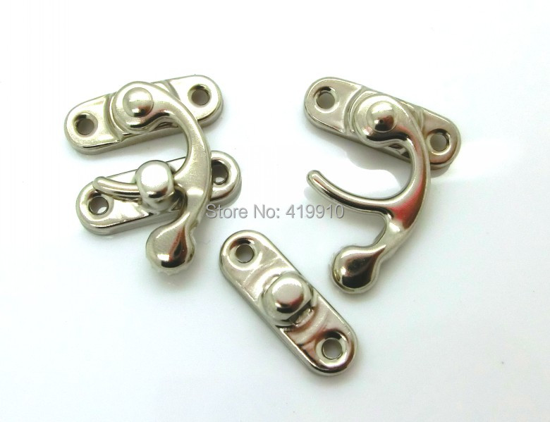Free Shipping-50 Sets Metal Hook Box Latches Clasp Box Lock Purse Lock Silver Tone 4 Holes 3.3cm x 2.7cm 2.7cm x 0.9cm,J1712 projector lamp et la730 for panasonic pt l520u l720u 730ntu l520e l720e l720nt l730nt with japan phoenix original lamp burner