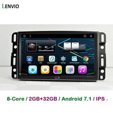 Lenvio RAM 2G Android 7.1 CAR GPS DVD Player For Dodge Journey Jeep Cherokee Commander Compass Wrangler 2004-2008 Chrysler 300C