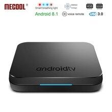 Mecool KM9 Android 8,1 Smart ТВ коробка S905X2 4 Гб DDR4 Оперативная память 32 ГБ Встроенная память 5G WI-FI Bluetooth 4,1 4 K HD Voice Управление Декодер каналов кабельного телевидения