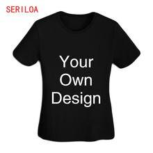 Женская футболка персонализированные футболки на заказ с бесплатным