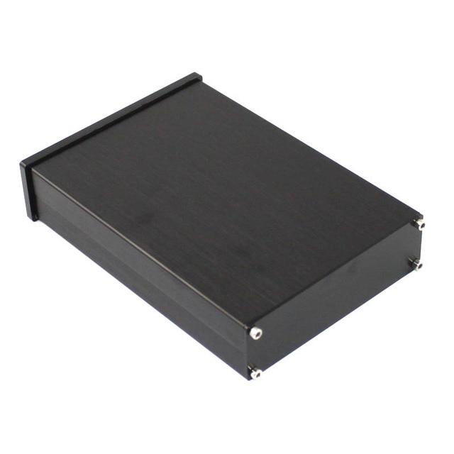Kyyslb preto painel frontal wa42 completa de alumínio digital amplificador chassi dac decodificador amplificador caso