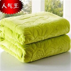 Image 4 - Одеяло на кровать, искусственный мех, коралловый флис, норковый плед, однотонный цвет, рельефное оформление, шезлонг, одеяло на стул