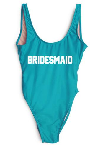 Women Sexy Swimwear BRIDESMAID Backless Swimsuit Jumpsuit Beachwear One Piece Bodysuit Bathing Suit Costume Monokinis