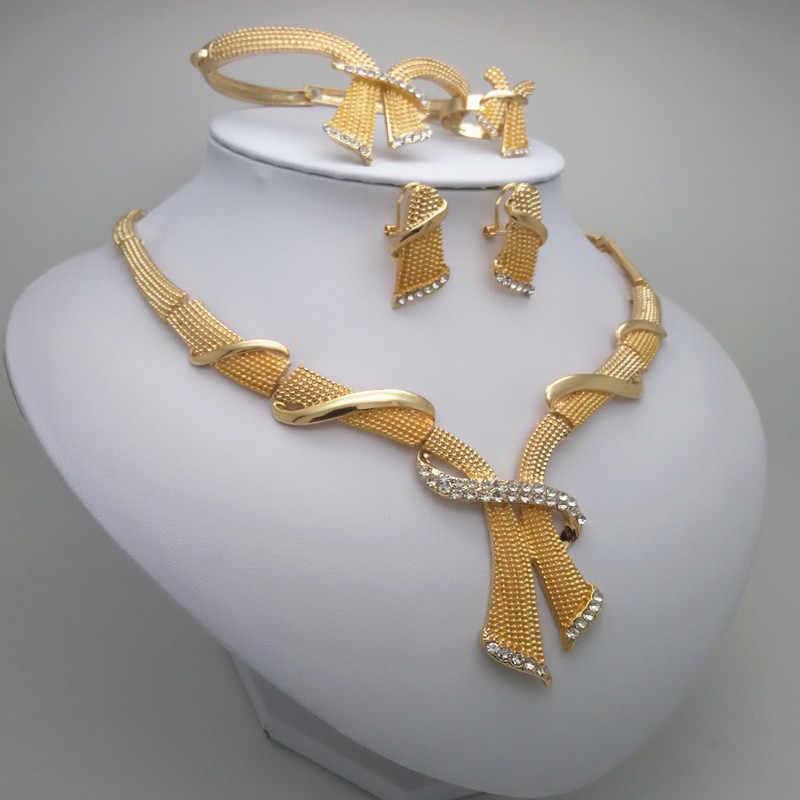Мама Королевства Новинка золото Цвет ювелирные комплекты dubai нигерийские свадьбные африканские бусины комплект ювелирных изделий браслет серьги кольцо большой набор украшений