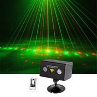 Sharelife Mini 20 Red Green Gobos Mixed RGB LED Aurora DJ Remote Control Laser Light Home Gig Party Show Stage Lighting LL20RG