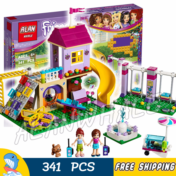 2019 New Style New Legoings 332pcs Girl Series Heart Lake Town Amusement Plaza Diy Model Building Blocks Kit Kids Education Toys Christmas Gift Model Building Kits Model Building
